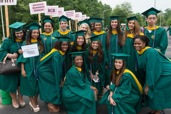 Advanced Biomedical Sciences students at graduation