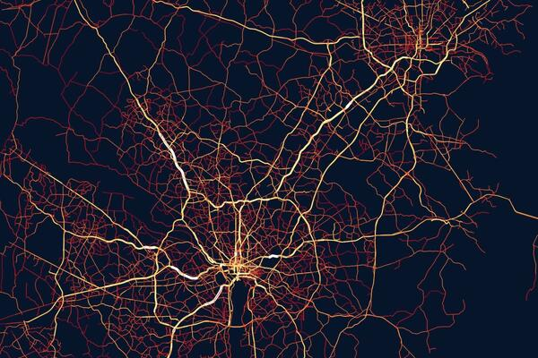 DC Metro area traffic visualization