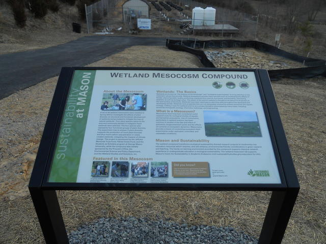 Wetland Mesocosm Compound sign