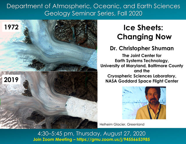 title and speaker for Ice Sheets GEOL talk