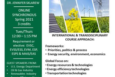 EVPP 432 533 Energy Policy Spring 2021 Flyer